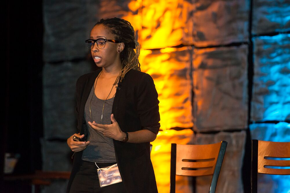 Chanelle Henry speaking at Tech2Gether 2015